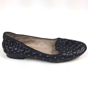 Vince Camuto Lilliana Quilted Studded Black Flats